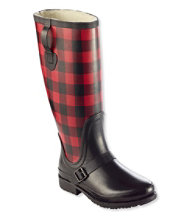 Women's Insulated Wellie Rain Boots with Polartec Fleece, Tall