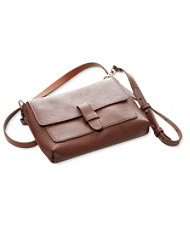 Double-Faced Leather Crossbody Bag