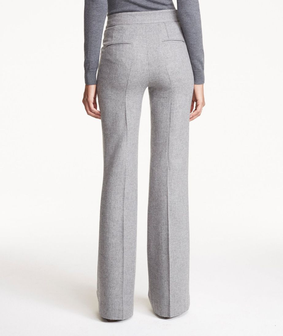 Wool Flare-Leg Pants
