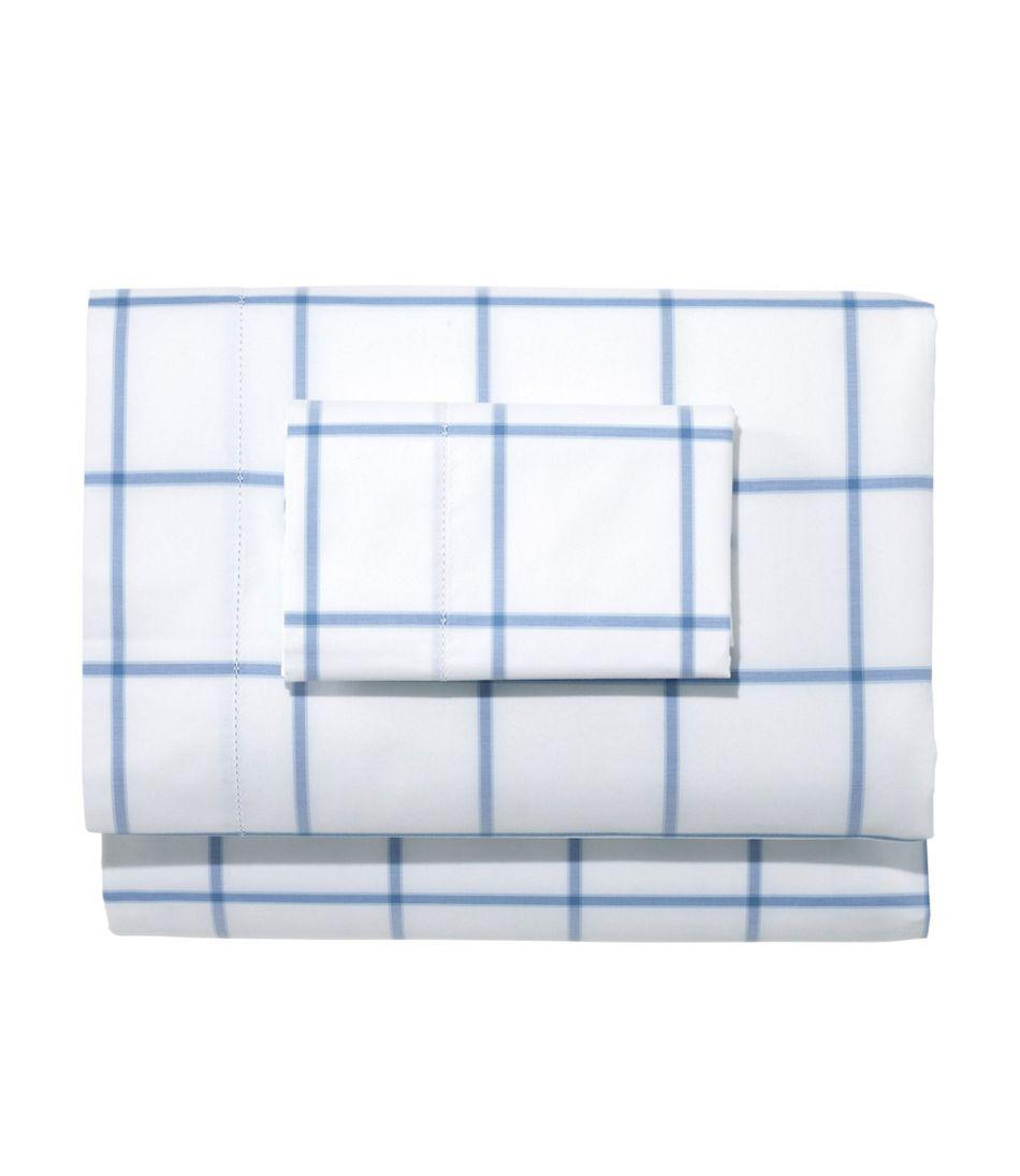 280-Thread-Count Pima Cotton Percale Sheet Set, Windowpane