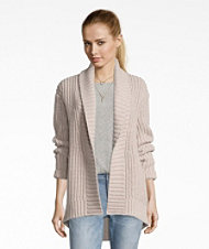 Signature Shaker-Stitch Wool Cardigan