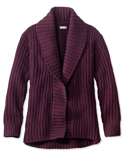 1920s Style Blouses, Shirts, Sweaters, Cardigans Signature Shaker-Stitch Wool Cardigan $139.00 AT vintagedancer.com