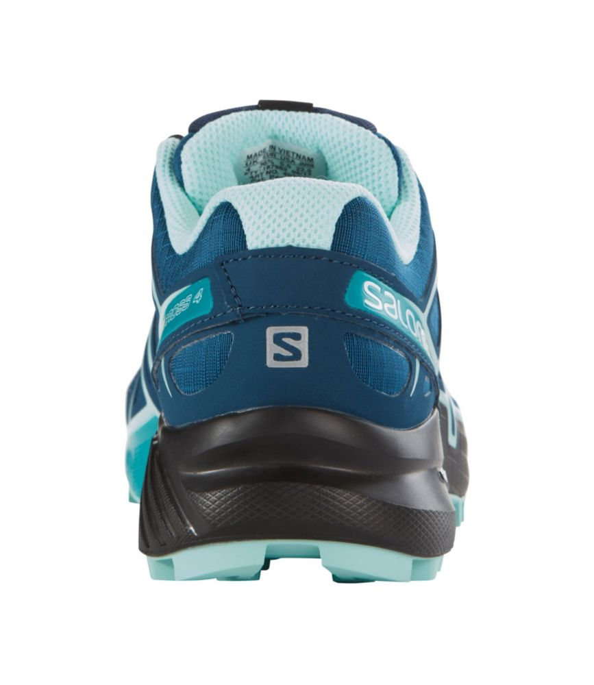 salomon womens speedcross 4 wide trail shoes zip