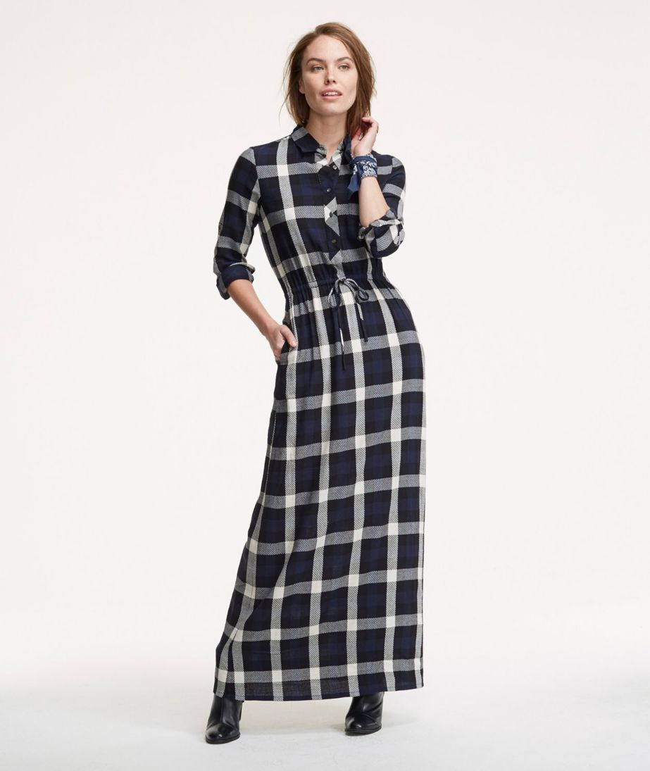 Signature Maxi Dress, Plaid