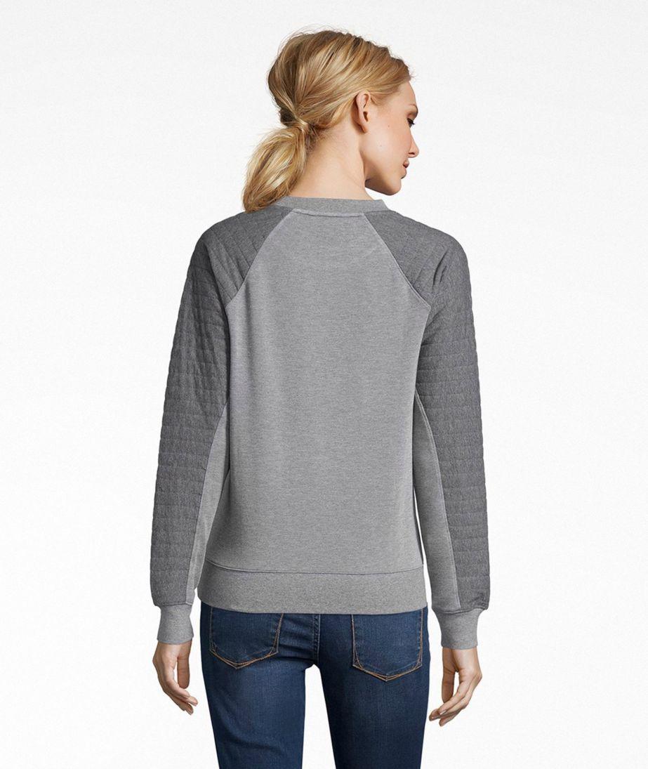 Signature Quilted-Sleeve Sweatshirt