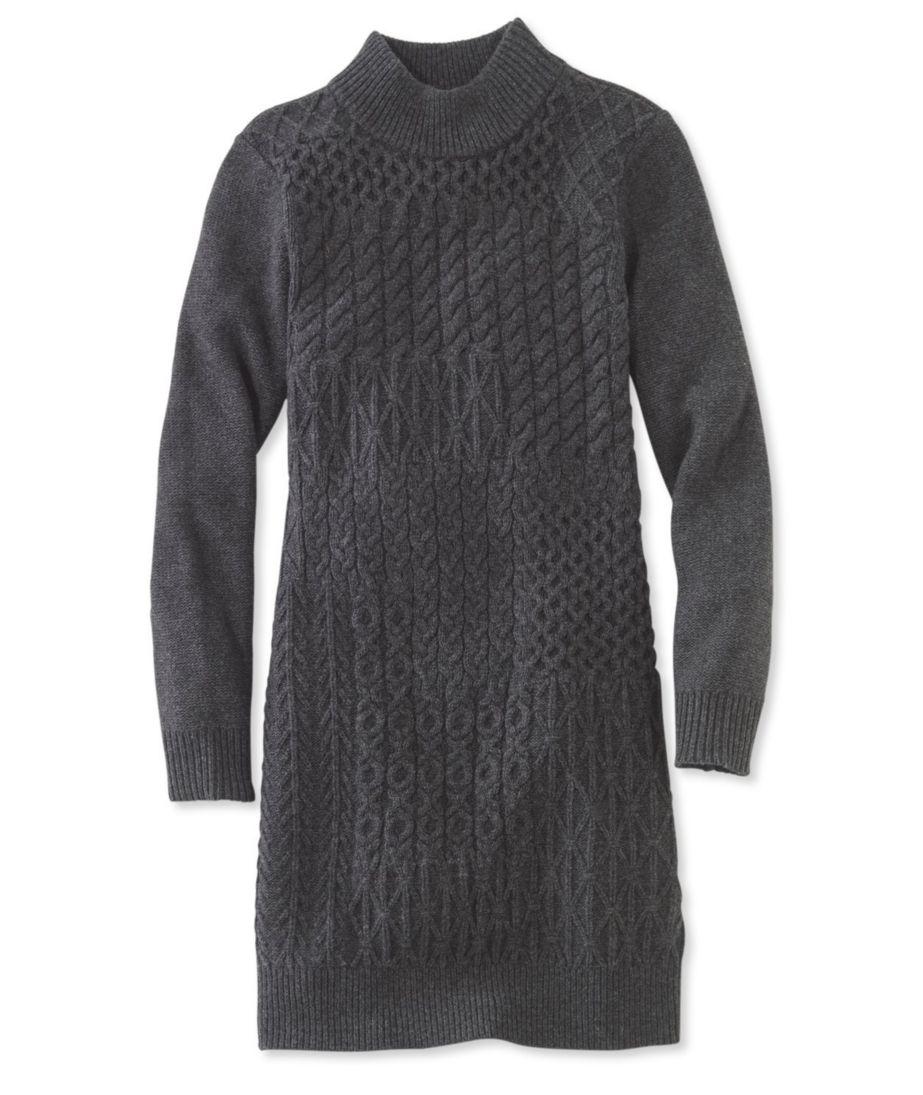 Signature Patchwork Fisherman Sweater Dress