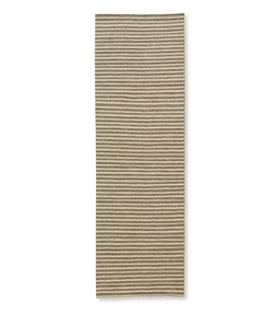 Striped Wool Flat-Weave Rug, Runner