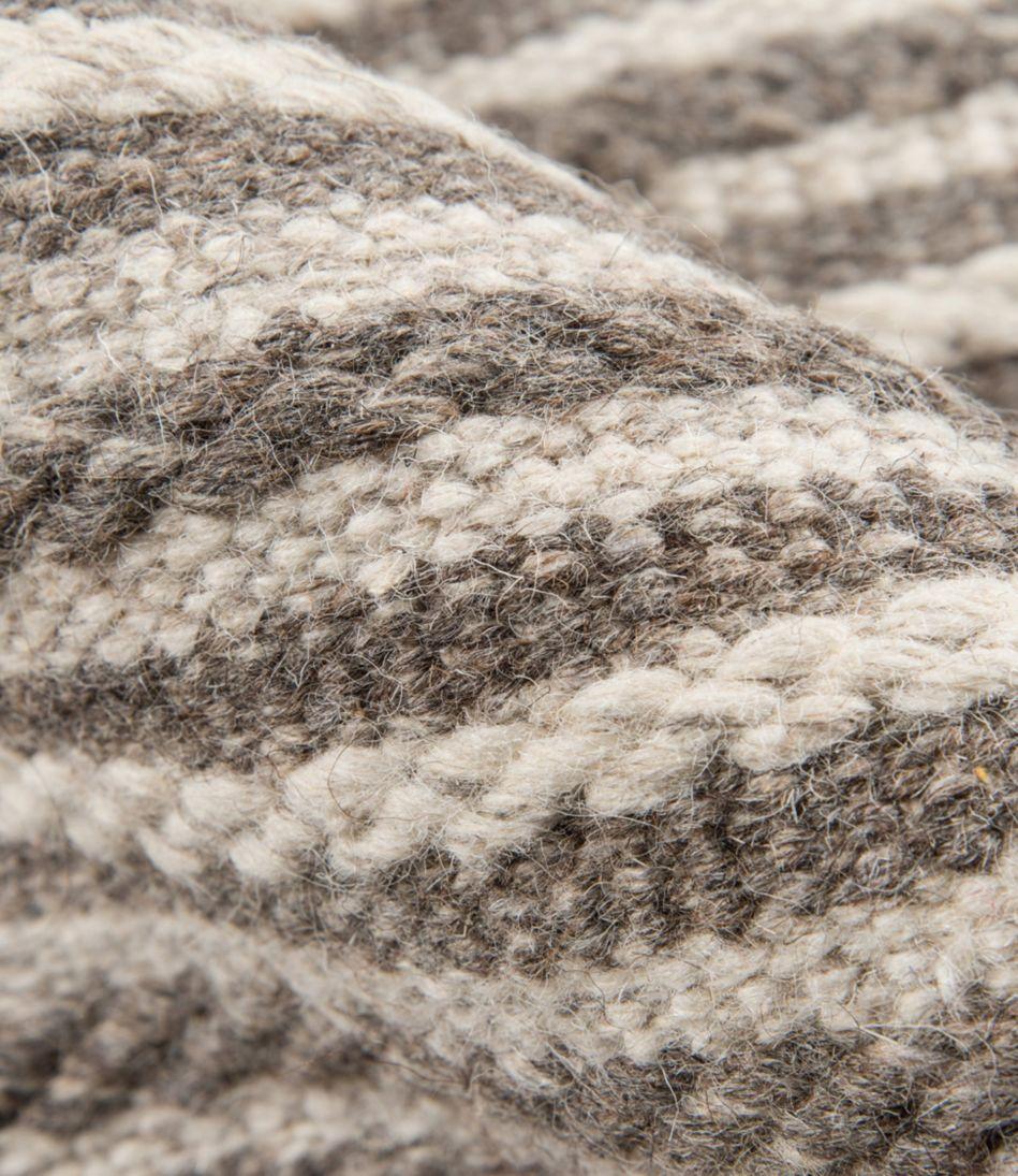Striped Wool Flat-Weave Rug