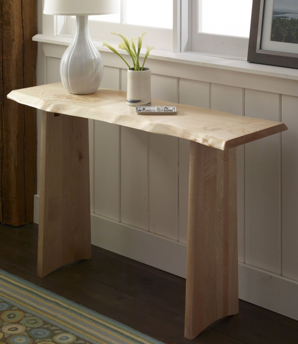 Rustic Edge Console Table