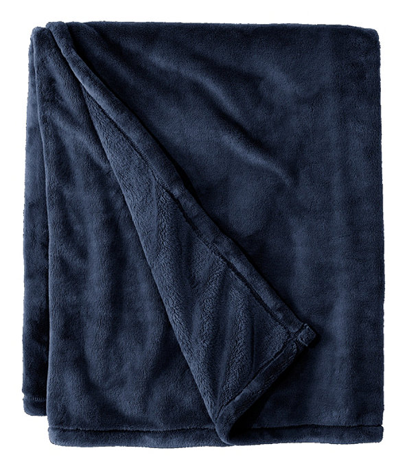 Wicked Plush Throw, Navy, large image number 0
