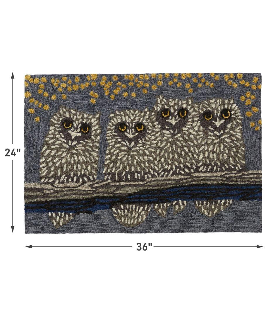 Indoor/Outdoor Vacationland Rug, Owl