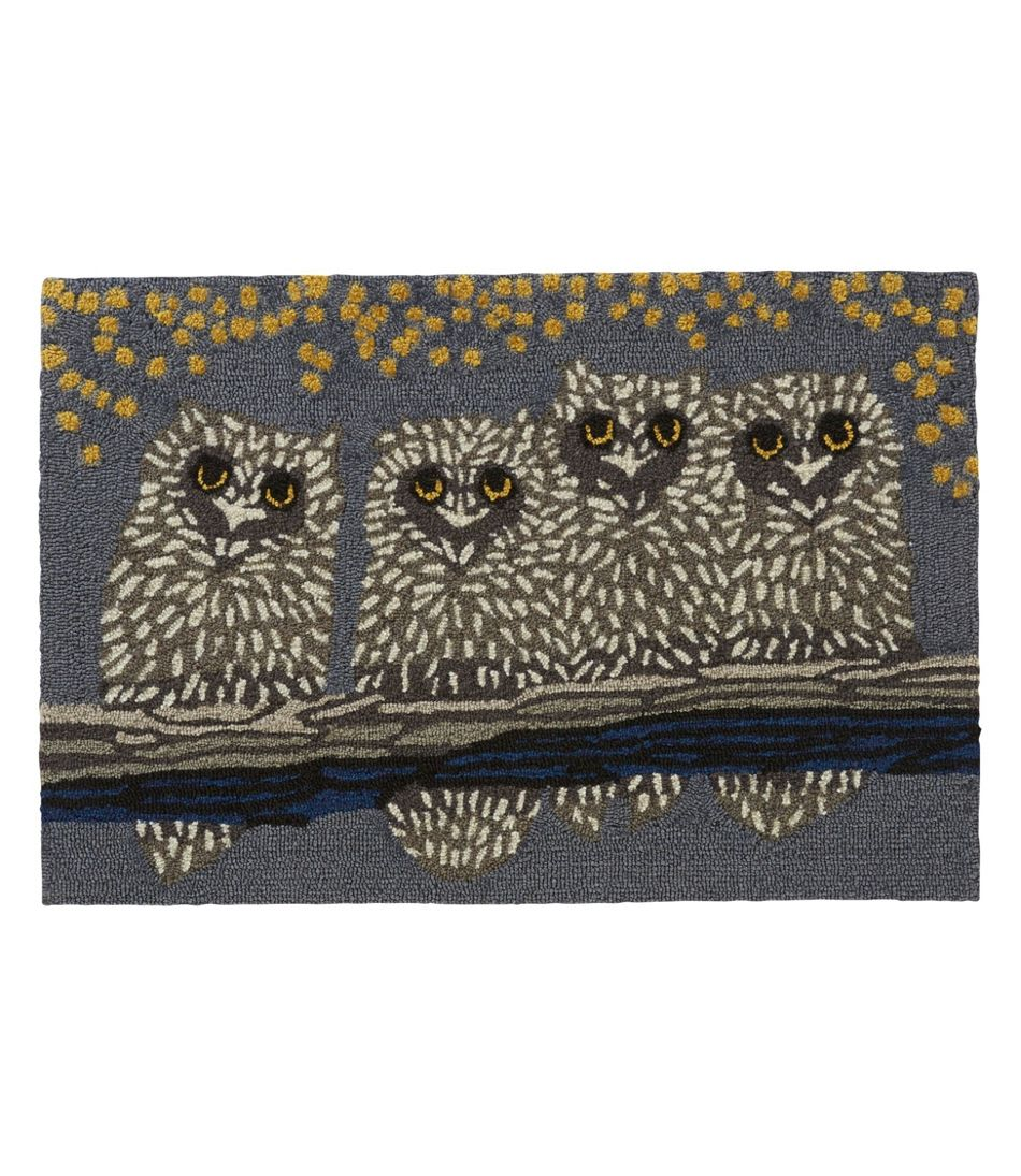 Indoor/Outdoor Vacationland Rug, Owl