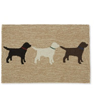 Indoor/Outdoor Vacationland Rug, Labs