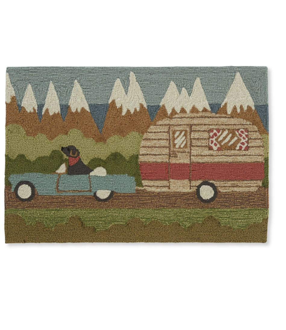 Indoor/Outdoor Vacationland Rug, Camper