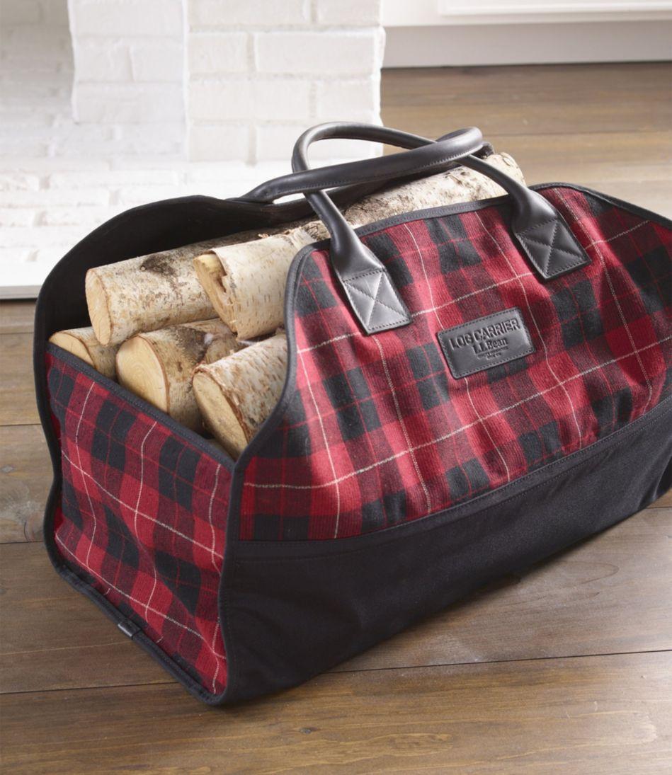 Wool Plaid Log Carrier