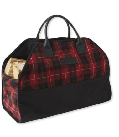 Wool Plaid Log Carrier