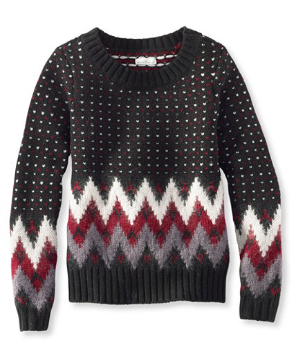 Signature Monroe Wool Pullover Sweater, Fair Isle | Free Shipping ...