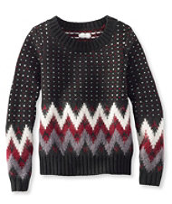 Signature Monroe Wool Pullover Sweater, Fair Isle