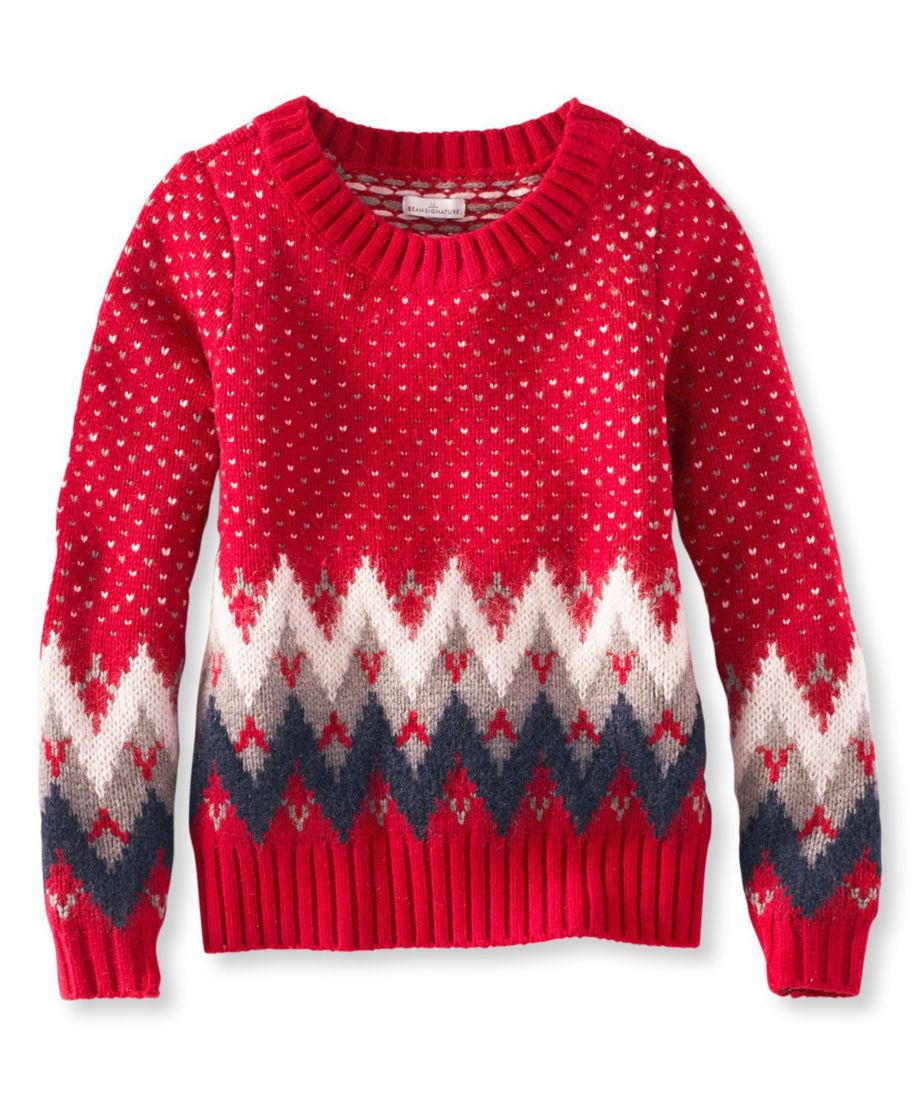 Signature Monroe Wool Pullover Sweater, Fair Isle