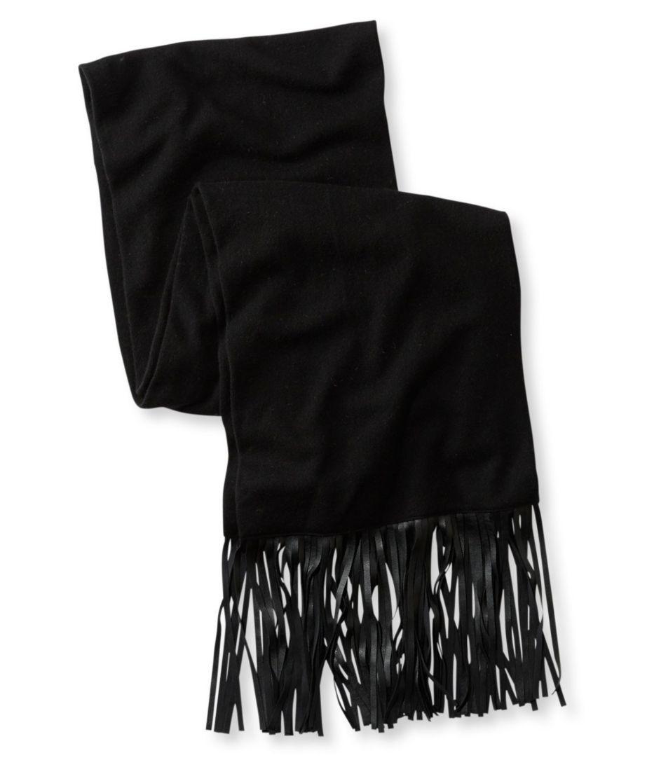 Signature Wool/Cashmere Fringe Scarf