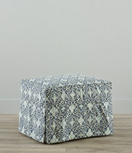Slipcovered Ottoman, Floral