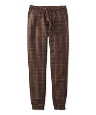 Signature Wool Pull-On Pants, Plaid