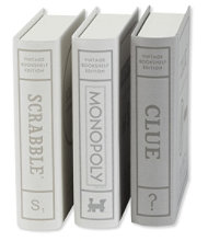 Bookshelf Games, Set of Three