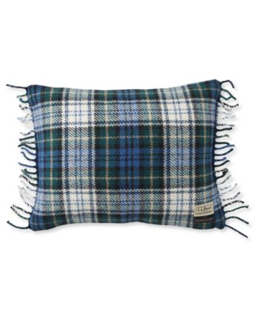 "L.L.Bean Wool Plaid Throw Pillow, 13"" x 16"""