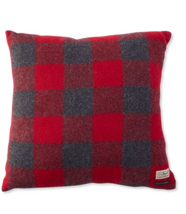"L.L.Bean Wool Plaid Throw Pillow, 20"" x 20"""