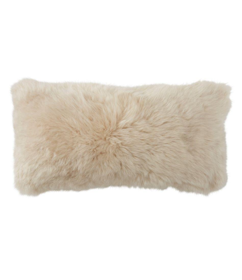 Sheepskin Throw Pillow, Rectangular