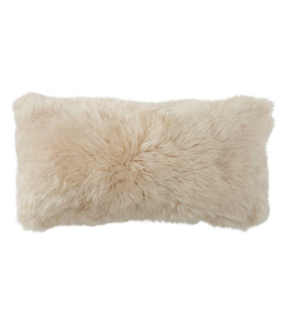 """Sheepskin Throw Pillow, 11"""" x 22"""""""