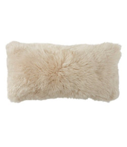 Sheepskin Throw Pillow, Rectangular