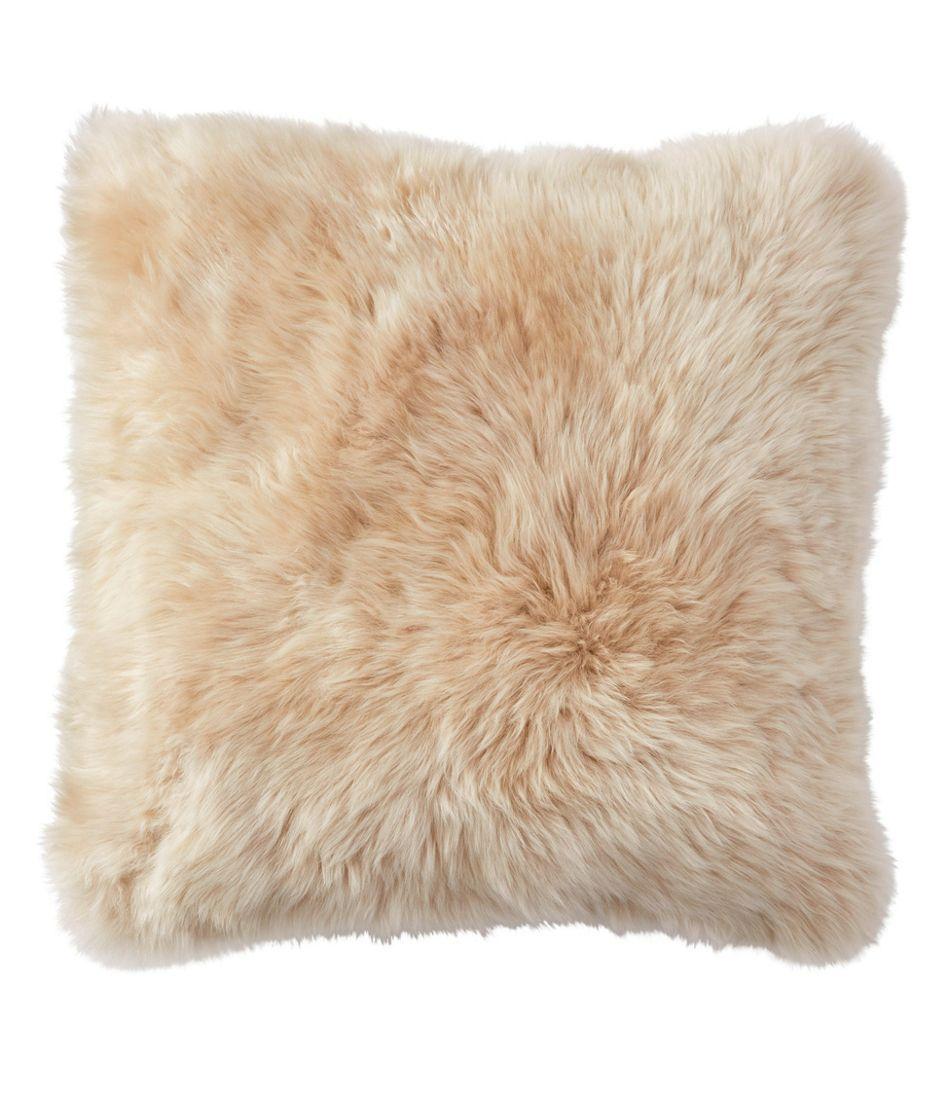 """Sheepskin Throw Pillow, 14"""" x 14"""""""