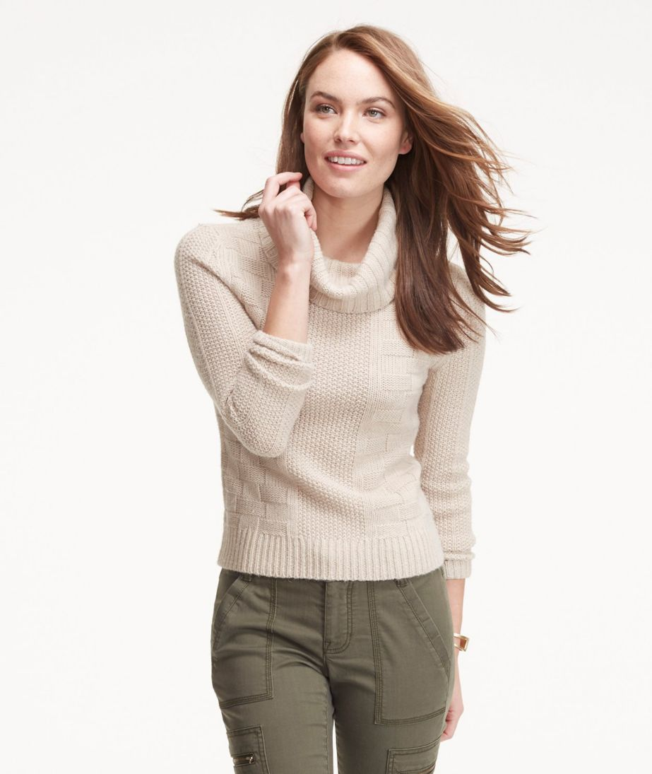 Signature Alpaca-Blend Sweater, Cowlneck