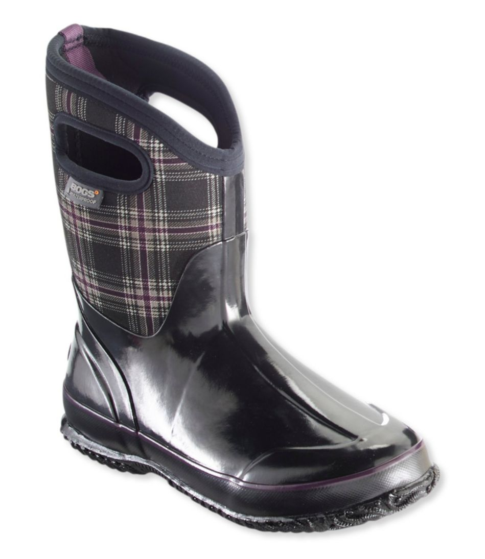 Women's Bogs Classic Winter Boots, Mid Plaid