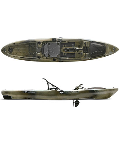 Native slayer propel 13 pedal drive fishing kayak l l bean for Fishing kayak with pedals