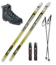Rossignol BC 70 Ski Set with Women's Rossignol BC X4 FW Boots