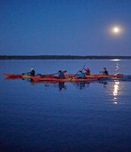 Lake Champlain Full-Moon Kayak Tour