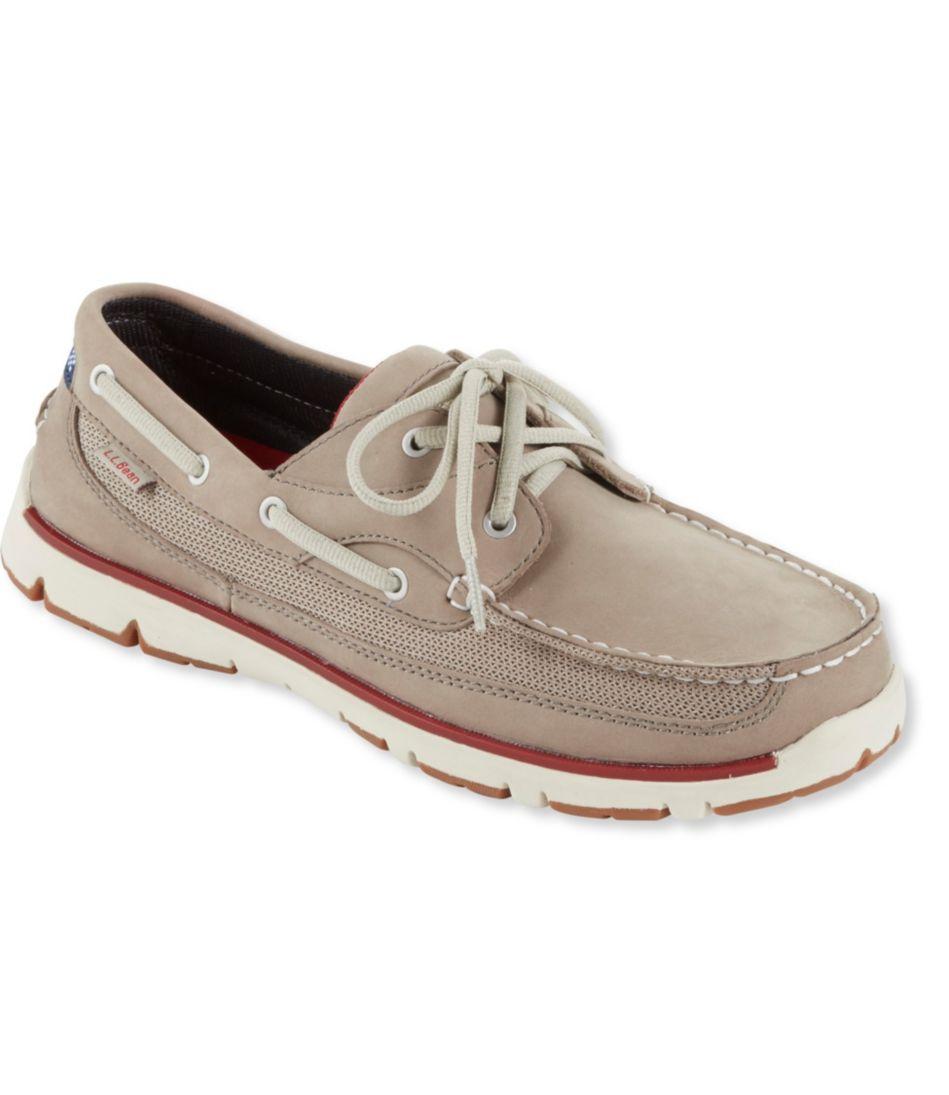 Portlander Free Flex Boat Shoes, Leather/Mesh