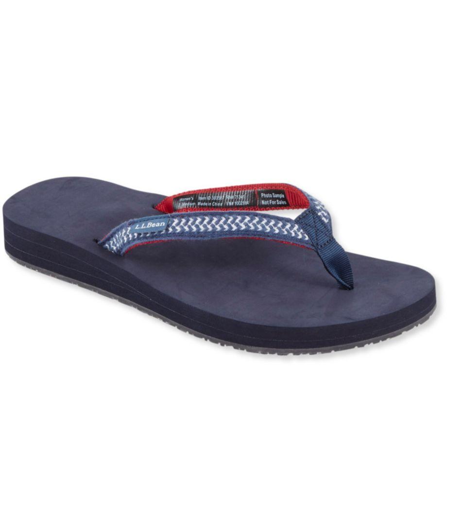 Women's Maine Isle Flip-Flops, Woven Thin-Strap