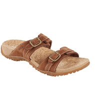 Women's Cork Slides, Double Buckle