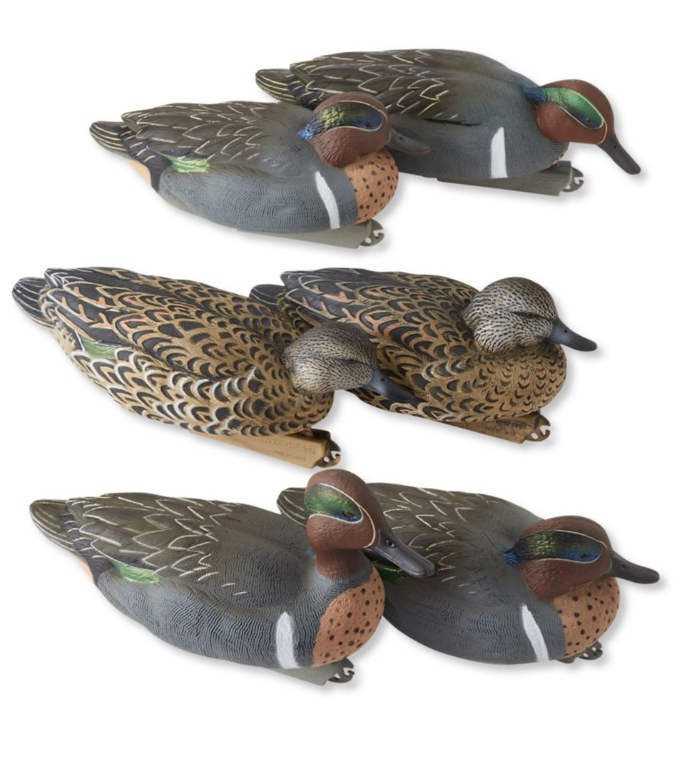 Avery Pro-Grade Decoys, Green-Winged Teal 6-Pack
