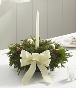 Winter White Holiday Fir Centerpiece
