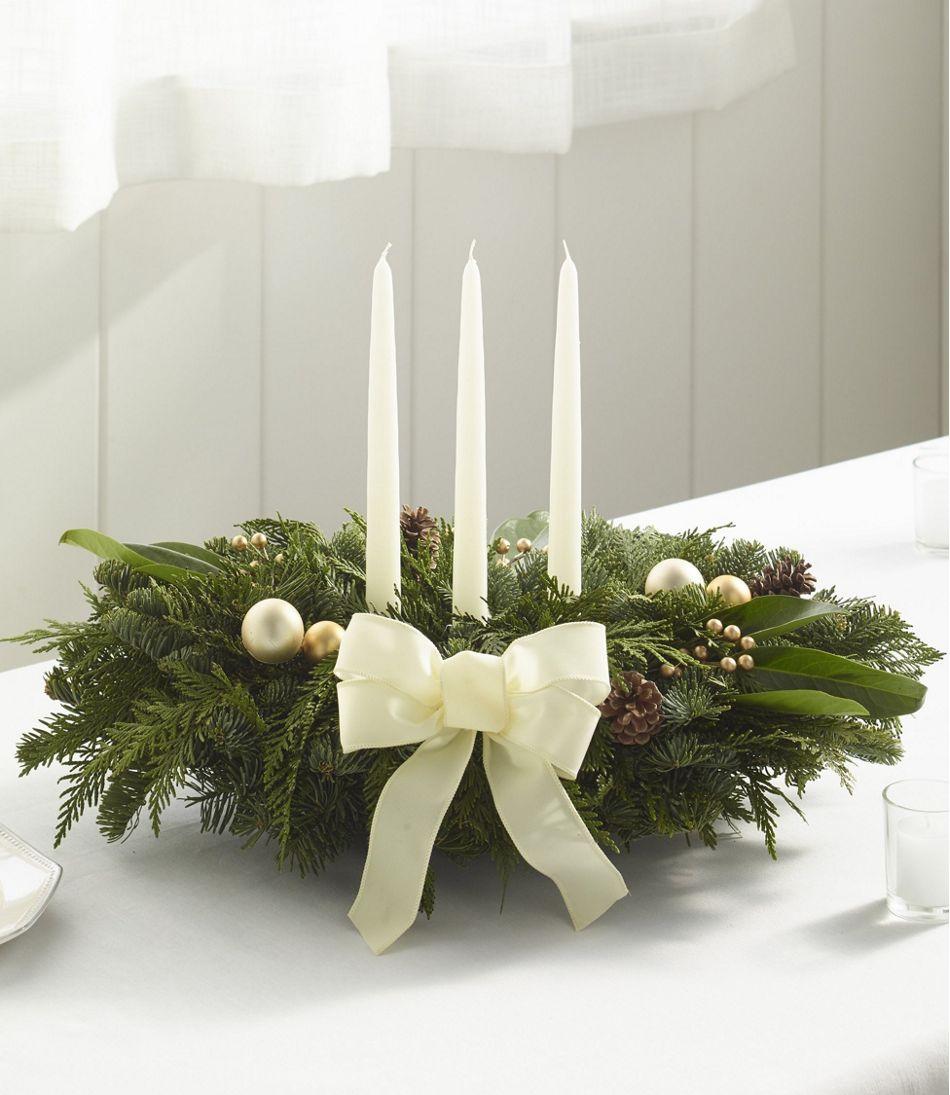 Winter White Holiday Fir Christmas Centerpiece