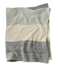 Marled Moss Cotton Throw, Stripe