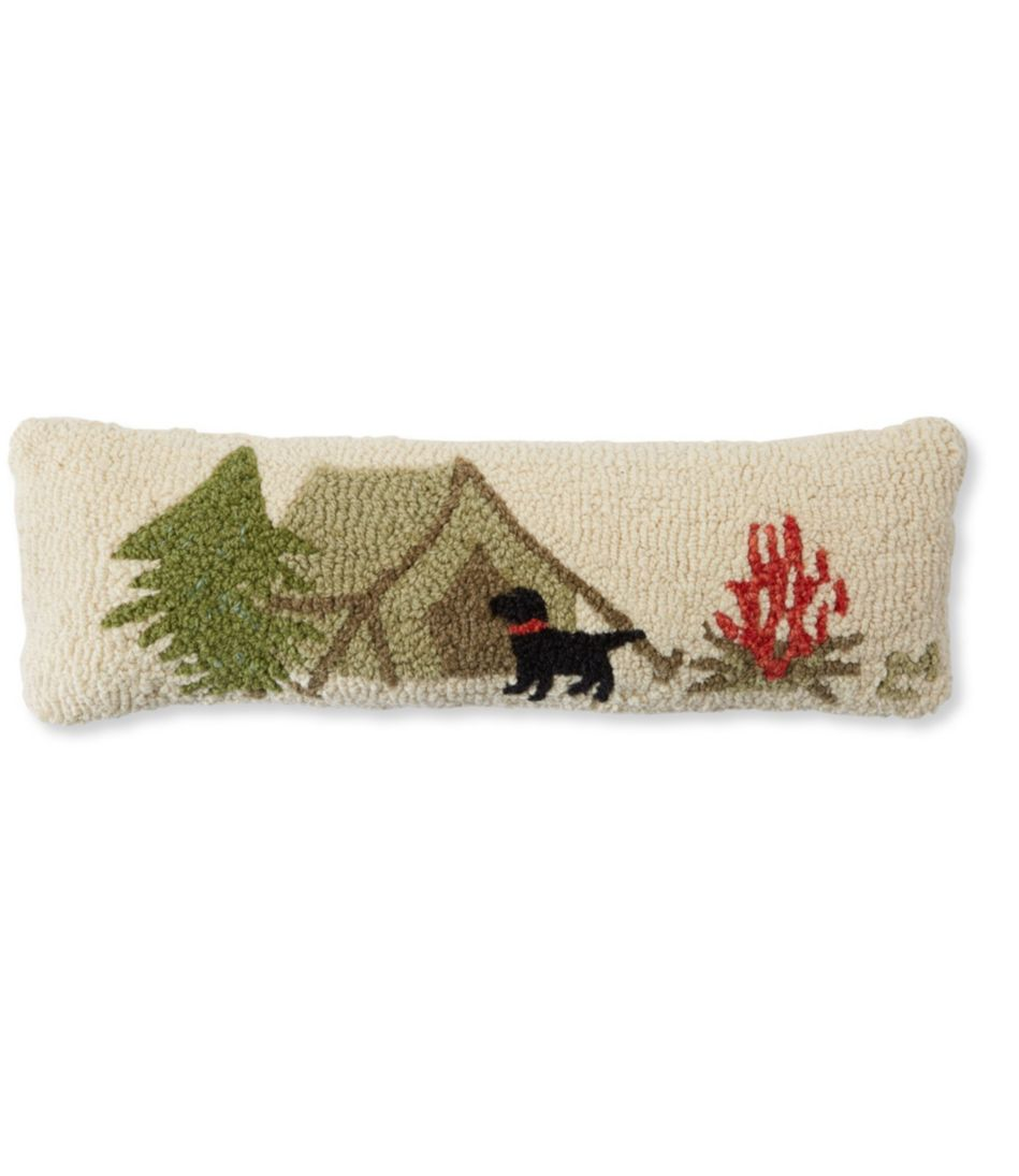 Wool Hooked Throw Pillow, Tent