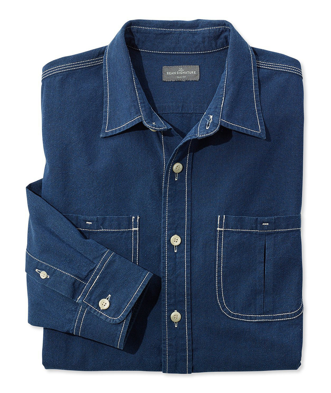 Signature Indigo Canvas Shirt by L.L.Bean