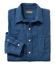 Signature Indigo Canvas Shirt, Stripe