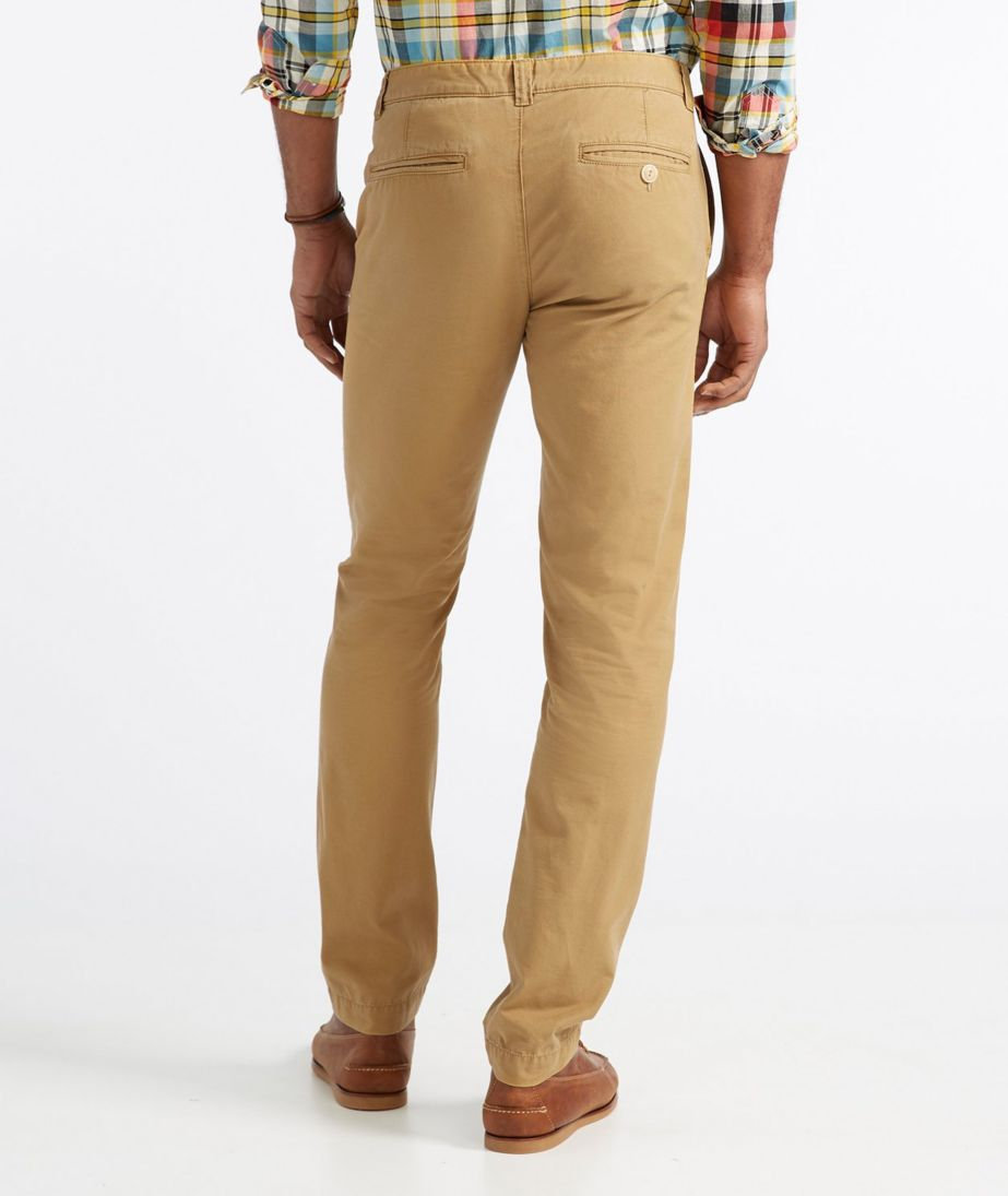 Signature Washed Canvas Cloth Pants, Slim Straight