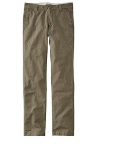 Men's Signature Washed Canvas Cloth Pants, Slim Straight